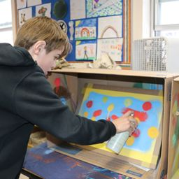 Deephaven Students Learn the Art of Creative Lettering, Collage and Aerosol