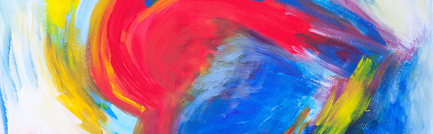 Close-up of a colorful abstract painting