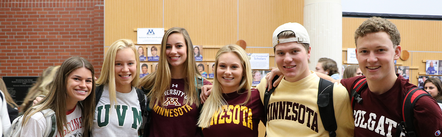 Students from the Class of 2017 on Decision Day