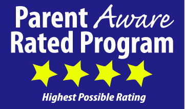 parent aware logo with 4 star rating